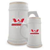 Full Color Decorative Ceramic Mug 22oz-Interlocking W Mountaineers - Official Logo