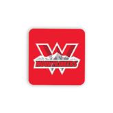 Hardboard Coaster w/Cork Backing-Interlocking W Mountaineers - Official Logo