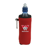 Collapsible Red Bottle Holder-W Western