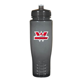 Spectrum Charcoal Sport Bottle 28oz-Interlocking W Mountaineers - Official Logo