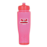 Spectrum Pink Sport Bottle 28oz-Interlocking W Mountaineers - Official Logo