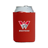 Neoprene Red Can Holder-W Western