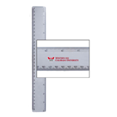 12 Inch White Plastic Ruler-W Western State Colorado University
