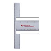 12 Inch White Plastic Ruler-W Western State Colorado University