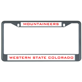 Metal License Plate Frame in Black-Mountaineers