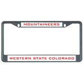 Metal License Plate Frame in Black-Mountaineers