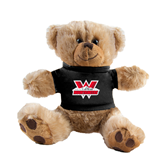 Plush Big Paw 8 1/2 inch Brown Bear w/Black Shirt-W Western