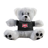 Plush Big Paw 8 1/2 inch White Bear w/Black Shirt-W Western