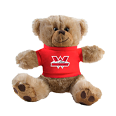 Plush Big Paw 8 1/2 inch Brown Bear w/Red Shirt-W Western