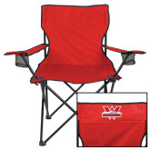 Deluxe Red Captains Chair-Interlocking W Mountaineers - Official Logo