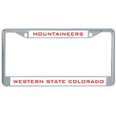 Metal License Plate Frame in Chrome-Mountaineers