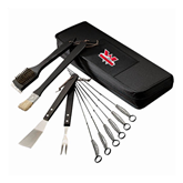 Grill Master Traditional BBQ Set-Interlocking W Mountaineers - Official Logo