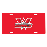 License Plate-Interlocking W Mountaineers - Official Logo