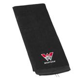 Black Golf Towel-W Western