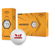 Callaway Warbird Golf Balls 12/pkg-Interlocking W Mountaineers - Official Logo
