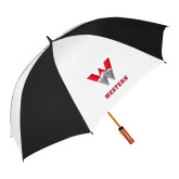 62 Inch Black/White Umbrella-W Western