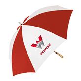 62 Inch Red/White Vented Umbrella-W Western