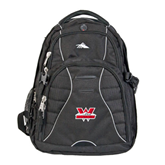 High Sierra Swerve Compu Backpack-Interlocking W Mountaineers - Official Logo