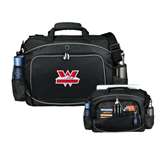 Hive Checkpoint Friendly Black Compu Case-Interlocking W Mountaineers - Official Logo