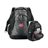 Wenger Swiss Army Tech Charcoal Compu Backpack-Interlocking W Mountaineers - Official Logo