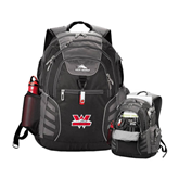 High Sierra Big Wig Black Compu Backpack-Interlocking W Mountaineers - Official Logo