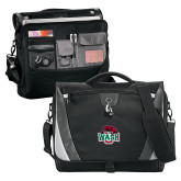 Slope Black/Grey Compu Messenger Bag-Wash U w/Bear