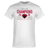 White T Shirt-2019 UAA Womens Indoor Track and Field Champions