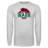 White Long Sleeve T Shirt-Wash U w/Bear