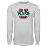 White Long Sleeve T Shirt-Wash U