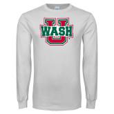 White Long Sleeve T Shirt-WashU
