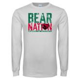 White Long Sleeve T Shirt-Bear Nation