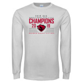 White Long Sleeve T Shirt-2019 UAA Womens Indoor Track and Field Champions