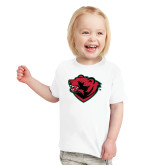Toddler White T Shirt-Bear Head