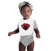 White Baby Bib-Bear Head
