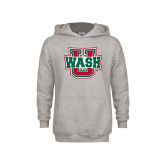 Youth Grey Fleece Hood-WashU