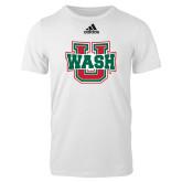 Adidas White Logo T Shirt-WashU