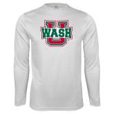 Performance White Longsleeve Shirt-Wash U