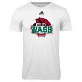 Adidas Climalite White Ultimate Performance Tee-Wash U w/Bear