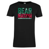 Ladies Black T Shirt-Bear Nation