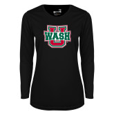 Ladies Syntrel Performance Black Longsleeve Shirt-WashU