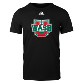 Adidas Black Logo T Shirt-WashU
