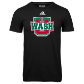Adidas Climalite Black Ultimate Performance Tee-WashU