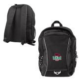 Atlas Black Computer Backpack-Wash U w/Bear