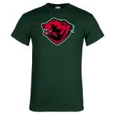Dark Green T Shirt-Bear Head