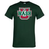Dark Green T Shirt-WashU