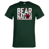 Dark Green T Shirt-Bear Nation