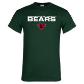 Dark Green T Shirt-Washington University Bears Stacked