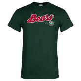 Dark Green T Shirt-Bears Script