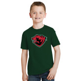 Youth Dark Green T Shirt-Bear Head