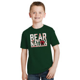 Youth Dark Green T Shirt-Bear Nation